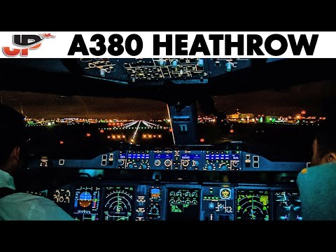 Thumbnail: Airbus A380 Night Takeoff from London Heathrow