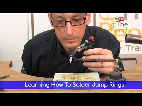 Learning How To Solder - Soldering Jump Rings - Making Your Own Jewellery