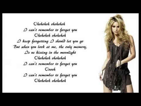 Shakira - Can't Remember To Forget You Lyrics | MetroLyrics