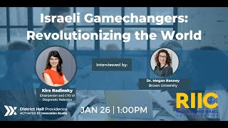 Israeli Gamechangers: Kira Radinsky | RI Israel Collaborative | District Hall Providence | RI