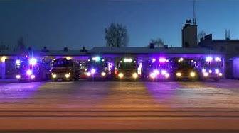 Finnish Fire Truck Light Show 2019