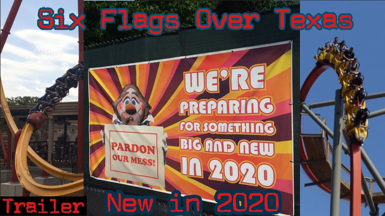 Six Flags Over Texas New Rides 2020 Six Flags Over Texas 2020 new ride   YouTube