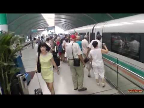 """Shanghai, Magnetic Levitation Train """"Maglev"""" - Trip to China part 51 - Full HD travel video"""
