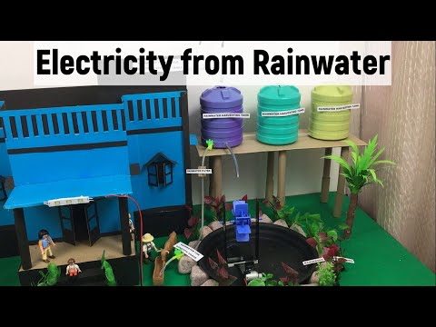 Generate electricity using rainwater at home | Renewable energy | Hydropower | Rainwater harvesting