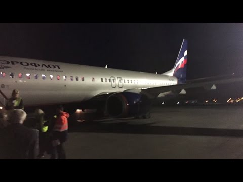 Aeroflot Business Class domestic flight SU1441 Irkutsk IKT to Moscow SVO on Boeing 737-800.
