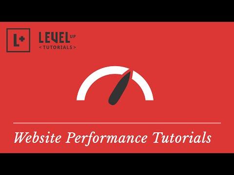 Website Performance Tutorials - 동영상