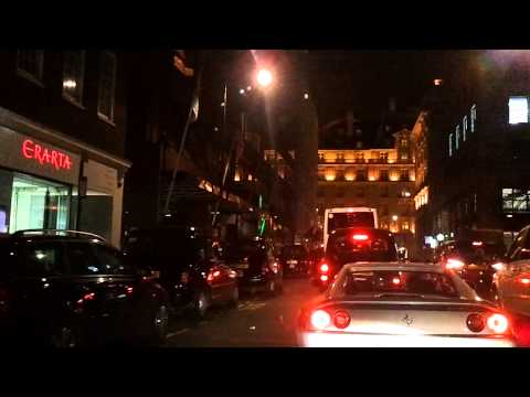 Driving in London - Evening in Mayfair