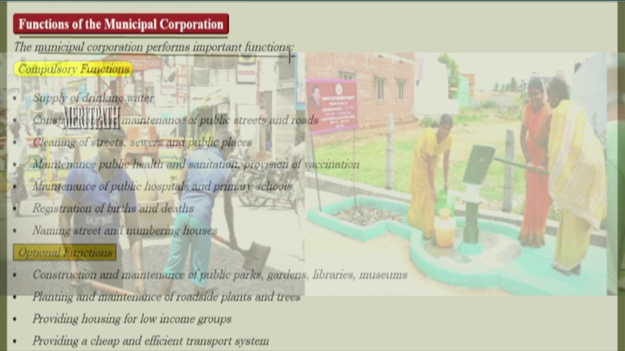 6 Class Cbse Vi Social Local Government Of Urban Areas