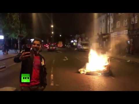 Police clash with protesters at London demo over death