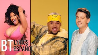 Chris Brown - Wobble Up ft. Nicki Minaj G-Eazy (Lyrics + Español) Video Official