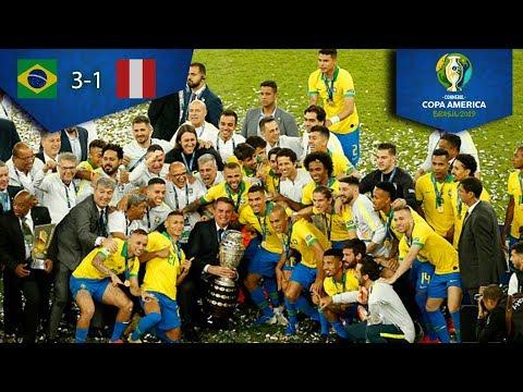 Brasil, campeón de la Copa América 2019 | Brasil 3-1 Perú | Copa América | Televisa Deportes