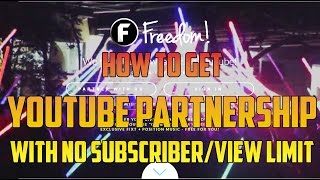 Video How to get a YouTube partnership without Subscribers or Views 2017 download MP3, 3GP, MP4, WEBM, AVI, FLV Mei 2018