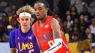 NBA All-Star Celebrity Game 2018 Quavo vs Justin Bieber Quavo Wins MVP