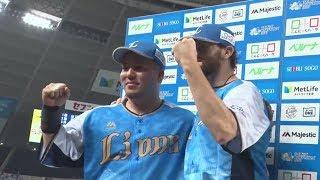2019年7月21日 埼玉西武・ニール投手・山川穂高選手ヒーローインタビュー