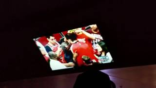 Chicago Bulls tribute video to Joakim Noah and Derrick Rose live