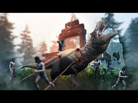The Isle - Tribal Taming Method CONFIRMED! Rex Grows Up With Human Tribal Family & ALL ITEMS!