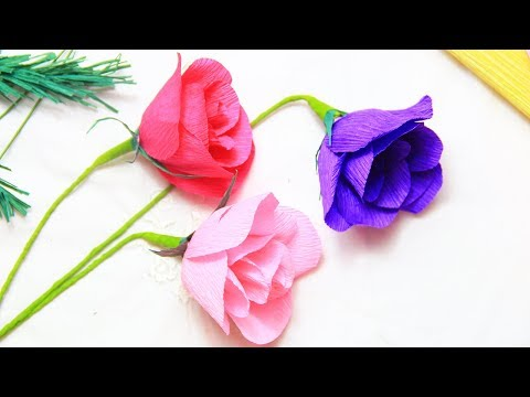How To Make Paper Flowers Rose Easy Paper Flowers Making Best Of