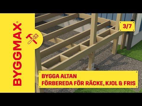Byggmax tipsar, bygga altan (Del 3 - bygge av räcke, kjol & fris ...