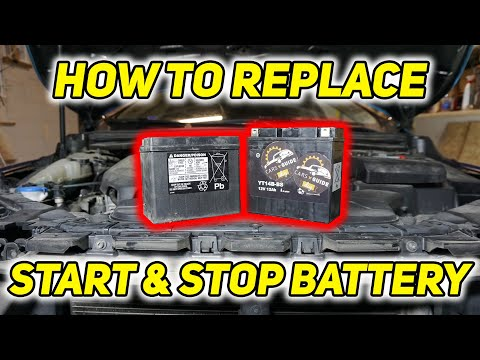 How to replace start & stop battery – Volvo v40 cros country