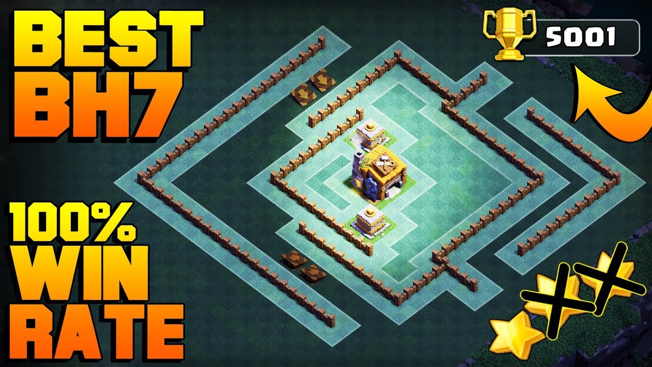 Best Builder Hall 7 Base W Proof 5000 Cups Coc Bh7 Giant Cannon Update Base Clash Of Clans Youtube