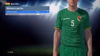 Tutorial uniforme de Bolivia eliminatorias Rusia2018 para PES2016 PS4 Next-Gen PESnosUNE