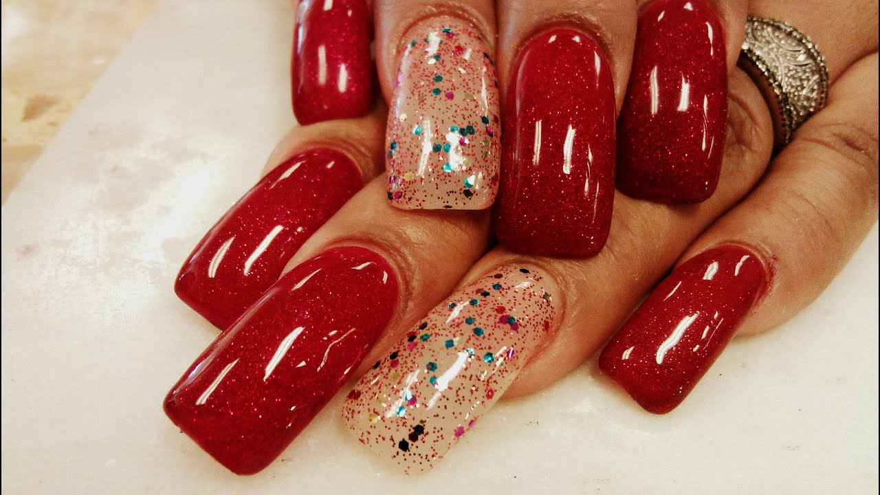 gel polish nail design