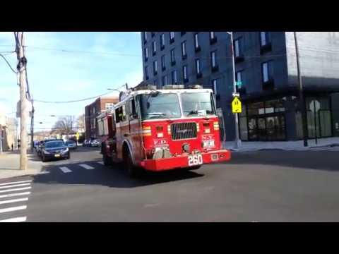 FDNY engine 260 Spare returning to quarters after a class 3 alarm
