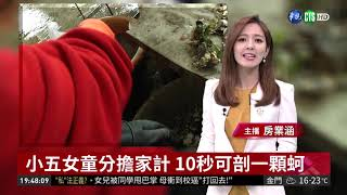 小五女童分擔家計 10秒可剖一顆蚵 | 華視新聞 20190403