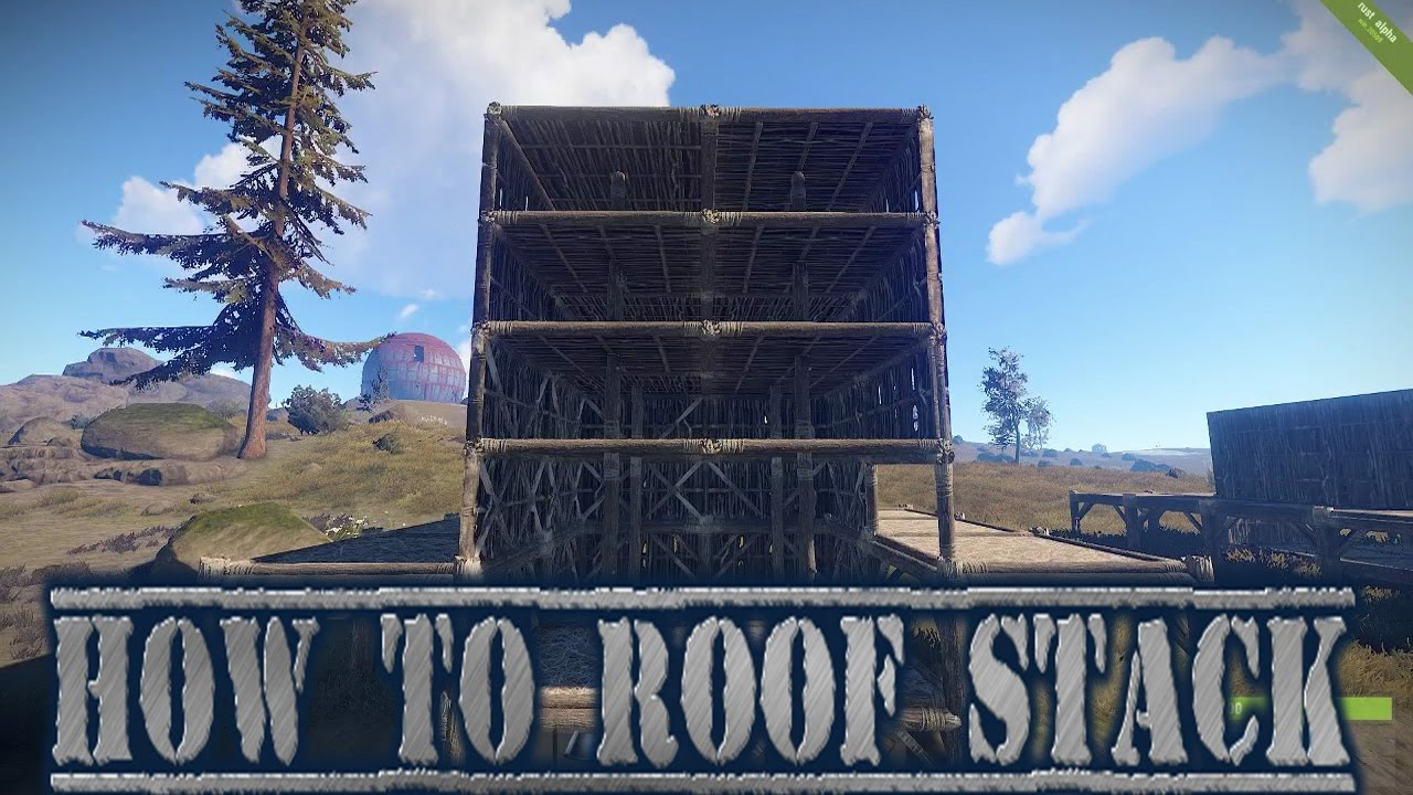 Rust Base Builds Ep 15 How To Roof Stack And Glitch Walls