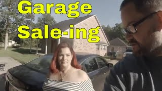 Candice and Lonnie go garage sailing - nice car manual find