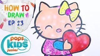 Sắc Màu Tuổi Thơ - Tập 23 - Bé Tập Vẽ Mèo Hello Kitty | How To Draw Hello Kitty For Kids