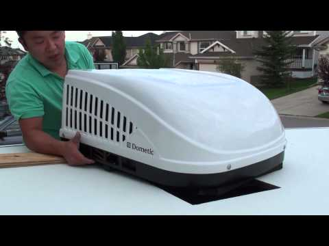 Install a RV Roof Top A/C Unit on a Forest River Pop Up Camper Tent Trailer