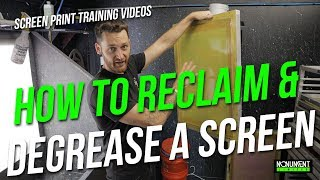 Tips for Reclaiming and Degreasing Screen Printing Frames | How To Screen Print