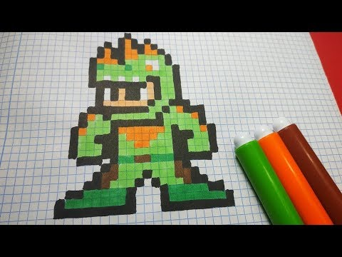 How To Draw Fortnite Rex Skin Pixel Art Tutorial Step By