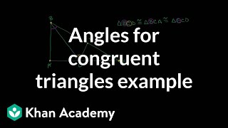 Figuring out all the angles for congruent triangles example