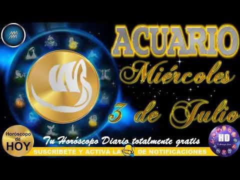 Horóscopo ACUARIO miércoles 3 de julio 2019 ♒ from YouTube · Duration:  2 minutes 45 seconds