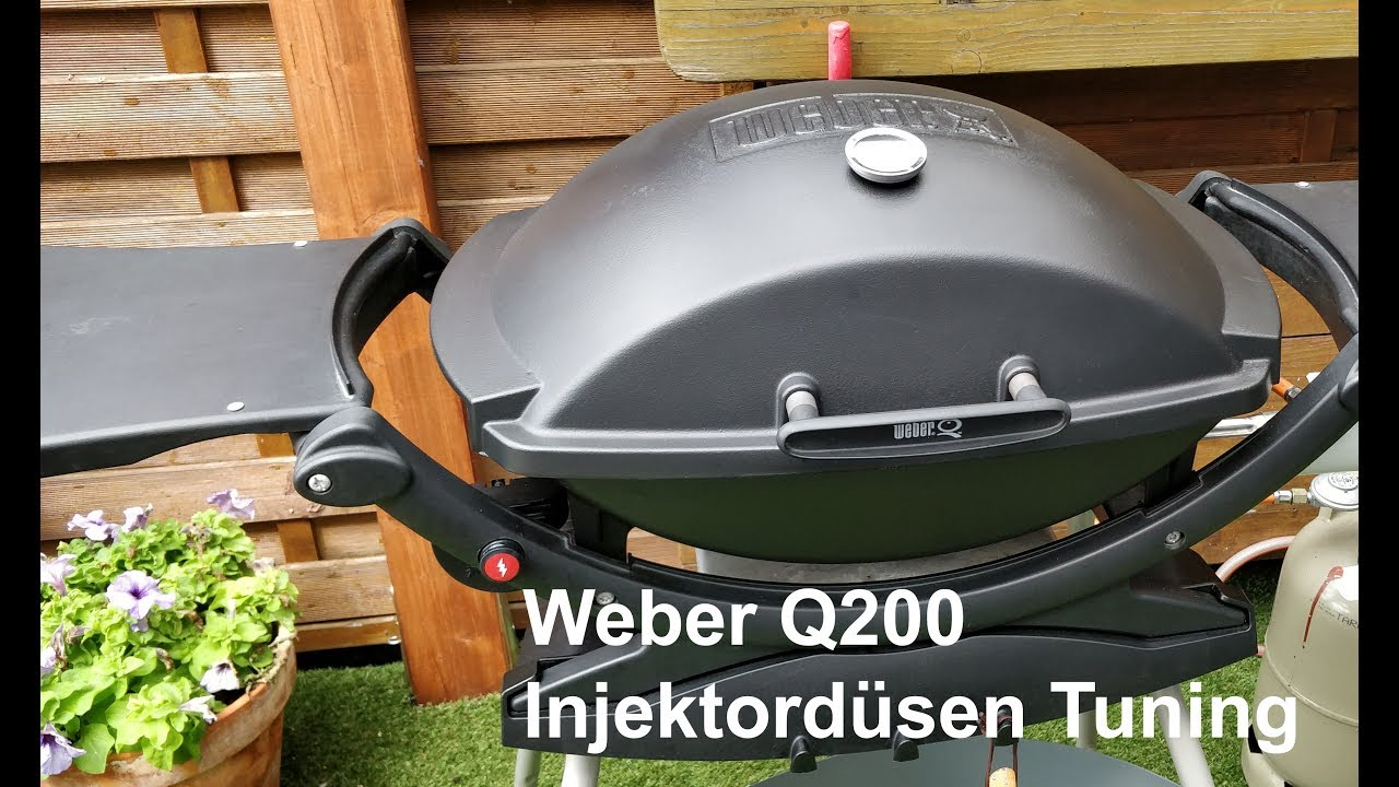 Weber Holzkohlegrill Thermometer Nachrüsten : Weber q gas injektordüsen tuning youtube