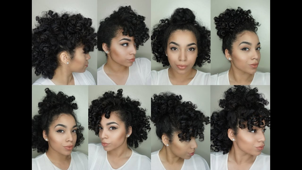 8 Hair Styles for Perm Rod Sets | Natural Hair - YouTube