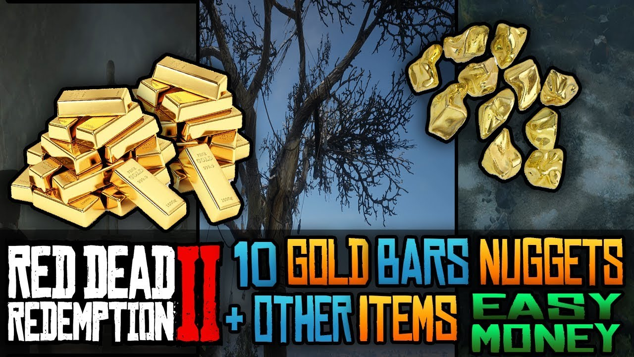 Fast And Easy Money 10 Gold Bar Nuggets Other Items Locations In Red Dead Redemption 2