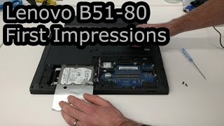 Lenovo B51-80 First Impressions and SSD/Memory fitting information
