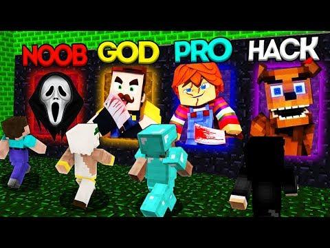 Minecraft Battle: NOOB vs PRO vs HACKER vs GOD: SCARY PORTAL CHALLENGE 3 / Animation