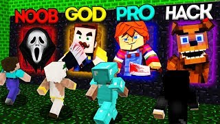 Minecraft Battle: NOOB vs PRO vs HACKER vs GOD: SCARY PORTAL CHALLENGE 3 / Animation