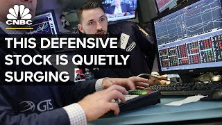 An Under-The-Radar Defensive Stock Is Quietly Surging | Trading Nation | CNBC