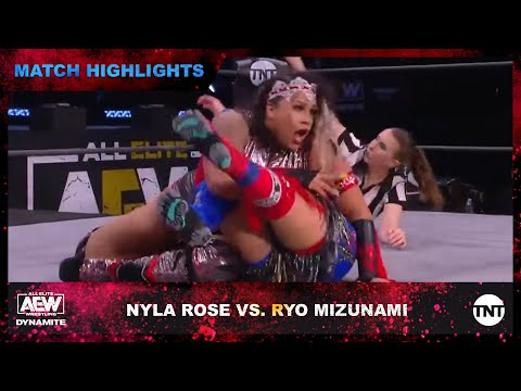 Nyla Rose and Ryo Mizunami in the AEW Women's World Championship Eliminator Tournament Final