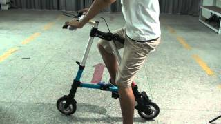 "8"" Tyre Sports Bike Foldable Portable Bicycle Blue"