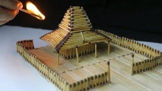 cara membuat Rumah joglo dari korek api [ its amazing ]