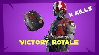 Fortnite Victory royale WINGMAN Outfit [11KILLS] SOLO