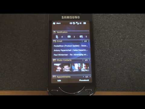 Samsung Omnia Pro B7610 Home Screens