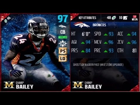 Ghost of Madden Past Champ Bailey | Player Review | Madden 17 Ultimate Team Gameplay