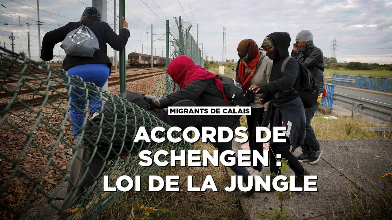 migrants de calais accords de schengen loi de la jungle youtube. Black Bedroom Furniture Sets. Home Design Ideas